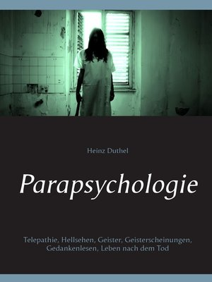 cover image of Parapsychologie