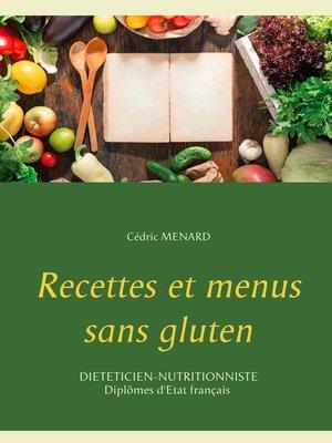 cover image of Recettes et menus sans gluten