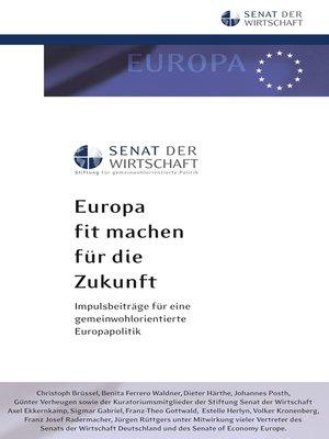 cover image of Europa fit machen für die Zukunft