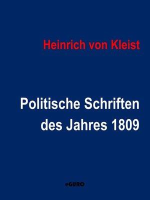cover image of Politische Schriften des Jahres 1809