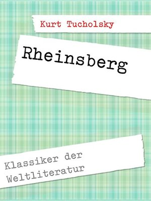 cover image of Rheinsberg