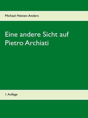 cover image of Eine andere Sicht auf Pietro Archiati