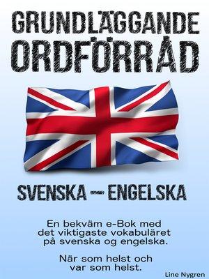 cover image of Grundläggande ordförråd Svenska--Engelska