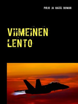 cover image of Viimeinen lento