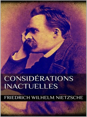cover image of Considérations inactuelles
