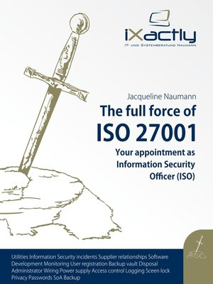 cover image of Your appointment as Information Security Officer (ISO)