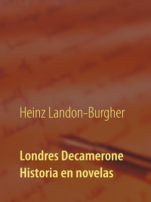 cover image of Londres Decamerone
