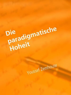 cover image of Die paradigmatische Hoheit