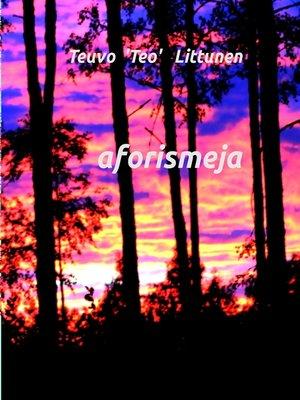 cover image of aforismeja