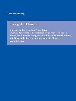 cover image of Krieg der Planeten