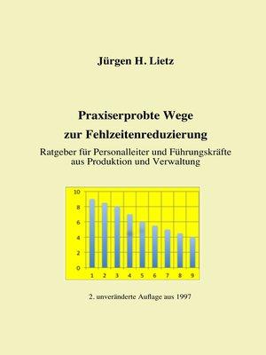 cover image of Praxiserprobte Wege zur Fehlzeitenreduzierung