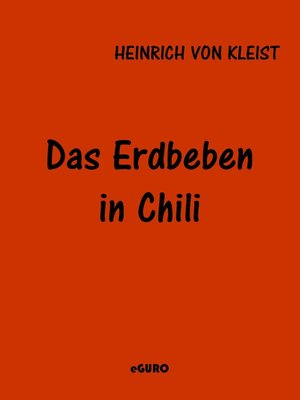 cover image of Das Erdbeben in Chili