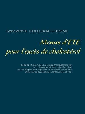 cover image of Menus d'été pour l'excès de cholestérol