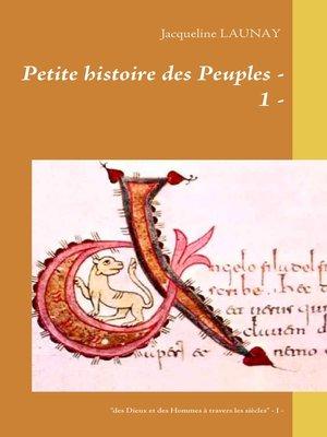 """cover image of """"des Dieux et des Hommes à travers les siècles"""" --Livre 1 -"""