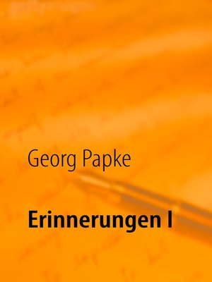 cover image of Erinnerungen I
