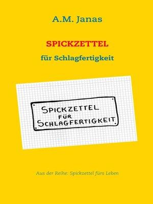 cover image of Spickzettel für Schlagfertigkeit