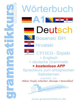 cover image of Wörterbuch Deutsch-Englisch-Kroatisch-Bosnisch-Serbisch Niveau A1