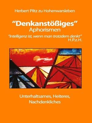 """cover image of """"Denkanstößiges"""""""
