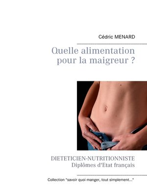cover image of Quelle alimentation pour la maigreur ?