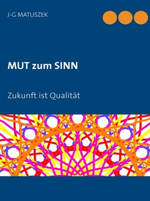 cover image of MUT zum SINN