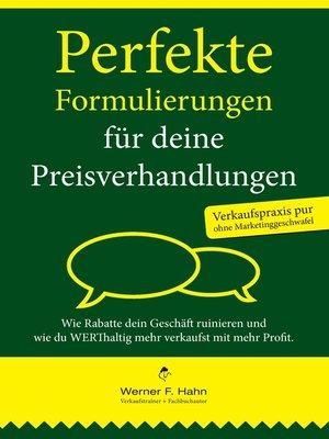 cover image of Perfekte Formulierungen für deine Preisverhandlungen