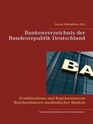 cover image of Bankenverzeichnis der Bundesrepublik Deutschland