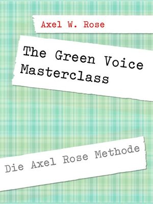 cover image of The Green Voice Masterclass