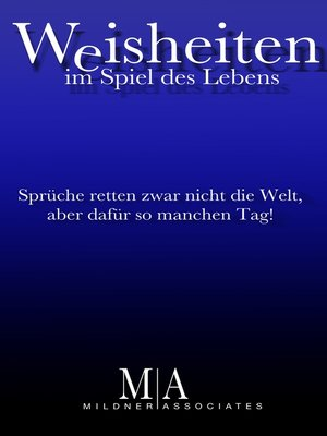 cover image of Weisheiten