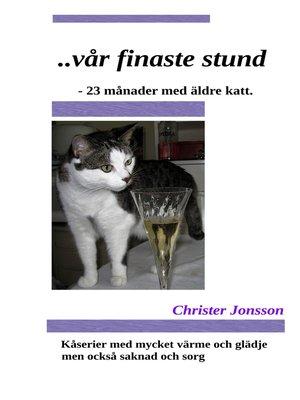 cover image of ...vår finaste stund