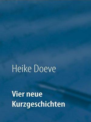 cover image of Vier neue Kurzgeschichten