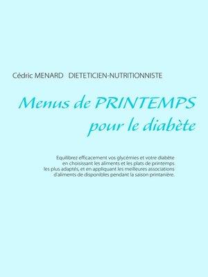 cover image of Menus de printemps pour le diabète