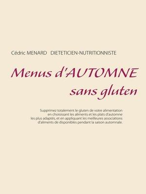 cover image of Menus d'automne sans gluten
