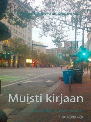 cover image of Muisti kirjaan