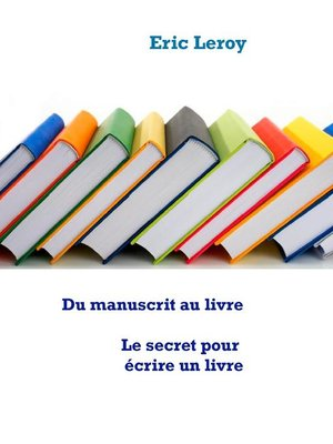 cover image of Du manuscrit au livre