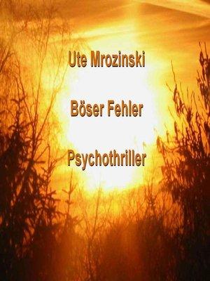 cover image of Böser Fehler