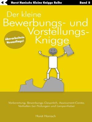 cover image of Der kleine Bewerbungs- und Vorstellungs-Knigge 2100