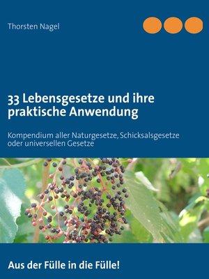 cover image of 33 Lebensgesetze und ihre praktische Anwendung