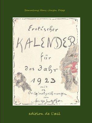 cover image of Mitja Leytho Erotischer Kalender 1923