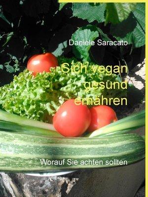cover image of Sich vegan gesund ernähren