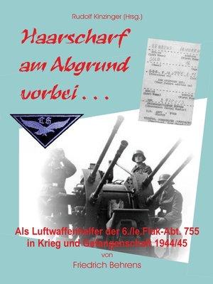 cover image of Haarscharf am Abgrund vorbei . . .