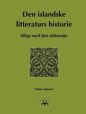 cover image of Den islandske litteraturs historie