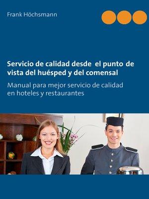cover image of Servicio de calidad desde  el punto de vista del huésped y del comensal