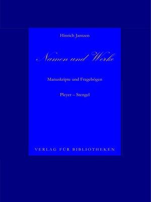 cover image of Namen und Werke 11