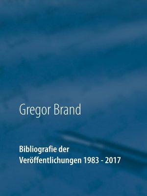 cover image of Bibliografie der Veröffentlichungen 1983--2017
