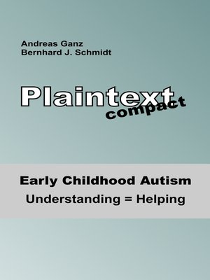 cover image of Early Childhood Autism