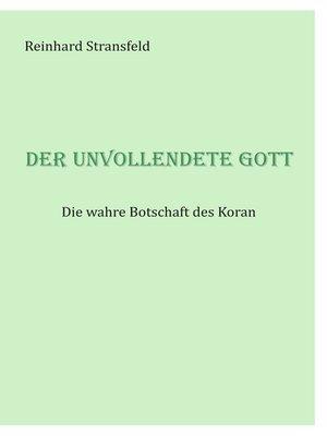 cover image of Der unvollendete Gott