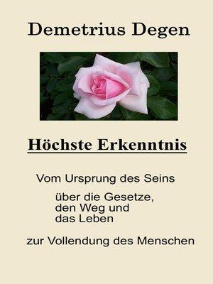 cover image of Höchste Erkenntnis