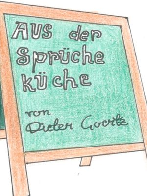 cover image of Aus der Sprücheküche