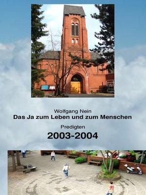 cover image of Das Ja zum Leben und zum Menschen, Band 4