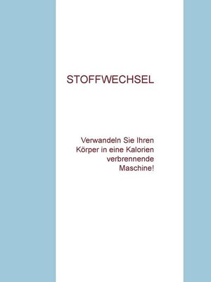 cover image of Wie man Stoffwechsel ankurbelt